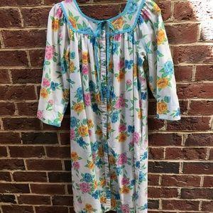 Vintage Floral Housecoat/ Robe/ Dress
